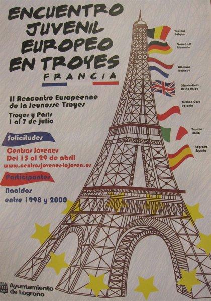 Diez jóvenes de Logroño podrán participar en el II Encuentro Europeo de la Juventud del 1 al 7 de julio en Francia