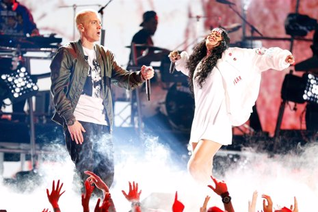Eminem y Rihanna en los MTV Movie Awards 2014