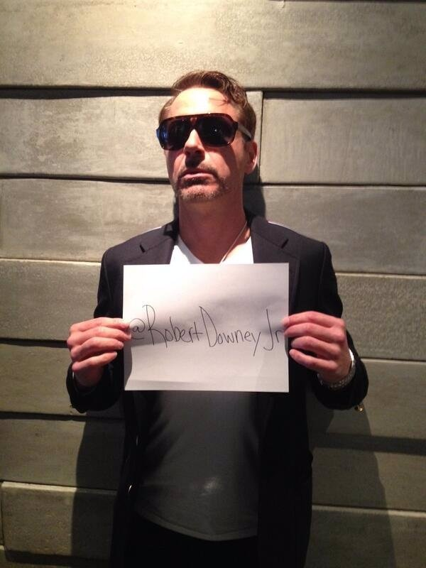 Robert Downey Jr Twitter