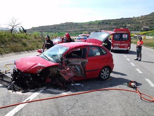 Accidente en Morentin.