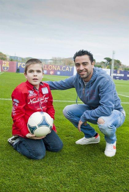 Xavi Hernández promueve una campaña para combatir el síndrome de Sanfilippo de La Caixa