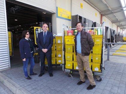 Correos entrega más de 1.400 kilos de productos