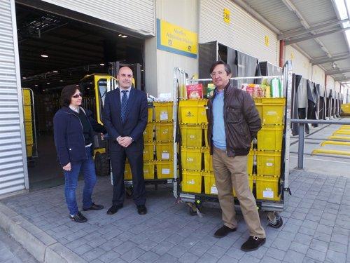 Correos entrega más de 1.400 kilos a Bancos de Alimentos de Aragón