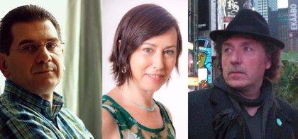 Blanca del Barrio, Pati Domenech y Román Calleja, en 'Espacio Interior' del MAS