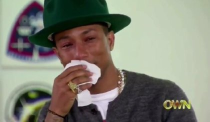 "Oprah hace llorar al ""Happy"" Pharrell Williams"