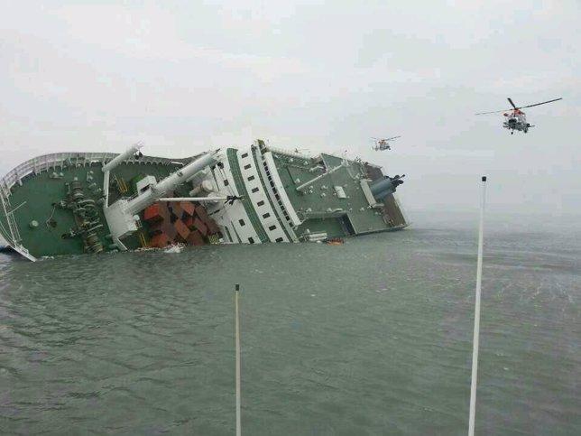 Barco hundido en Corea del Sur
