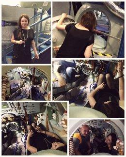 Sarah Brightman visita la NASA