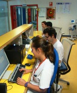 Control de enfermería del Hospital Comarcal de Inca
