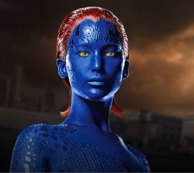 Jennifer Lawrence como Mística en X-Men: Days of future past