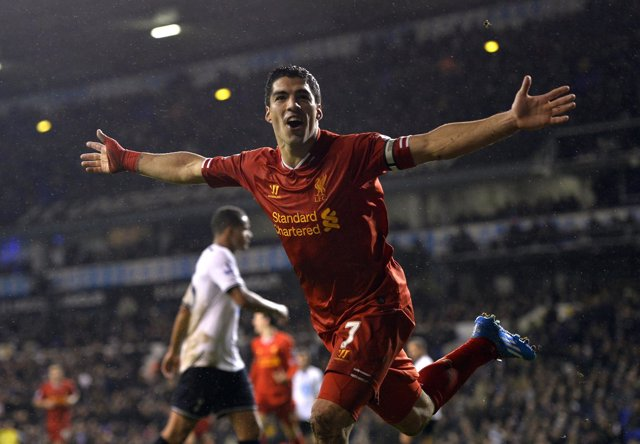 Luis Suárez con el Liverpool