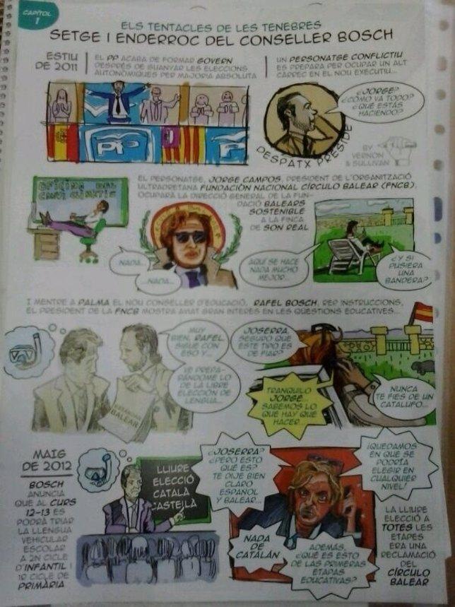 Cómic sobre educación de Baleares