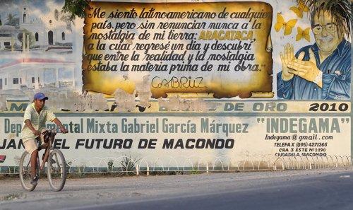 Aracataca, el pueblo natal del escritor colombiano Gabriel García Márquez