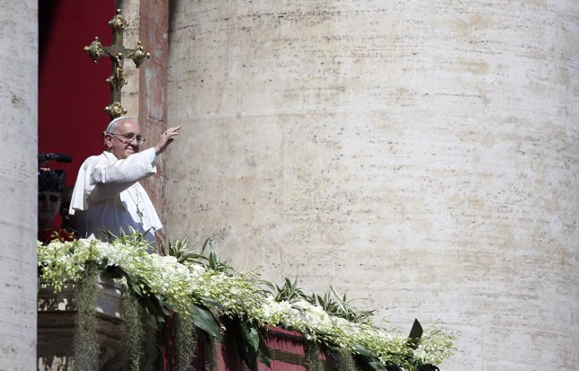 El Papa durante el Urbi et Orbi
