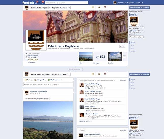 Facebook Palacio de la Magdalena