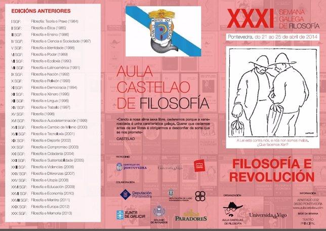 Semana de 'Filosofía e Revolución' de Pontevedra