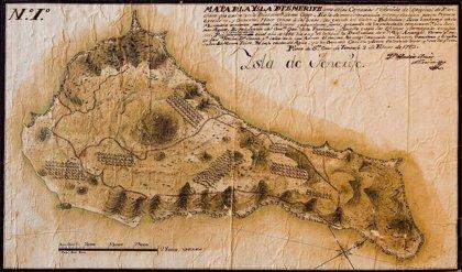 La sección 'Tras el cristal' recupera un mapa de Tenerife del siglo XVIII