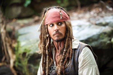 Johnny Depp es Jack Sparrow en Piratas del Caribe