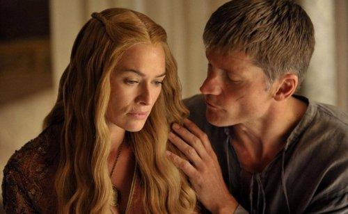 Cersei Lannister y su hermano Jaime