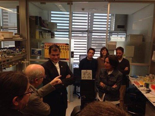 El presidente Rafel Correa visita el PRBB
