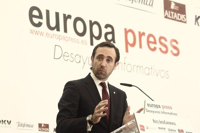 José Ramón Bauzá, Desayunos de Europa Press