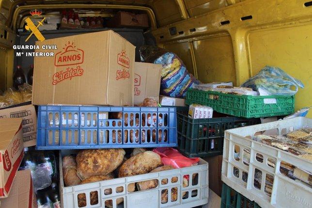 Alimentos intervenidos en Palma