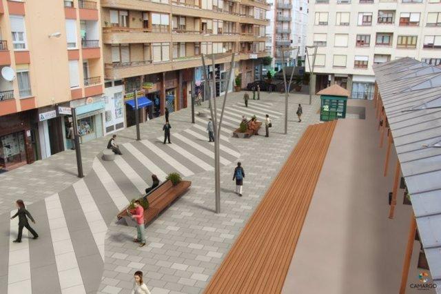 Proyecto de semipeatonalización de las calles Eulogio Fernández y Constitución