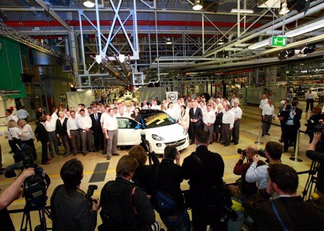 Producción de la unidad tres millones en Eisenach
