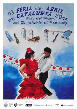 Cartel de la 43a Feria de Abril de Catalunya 2014