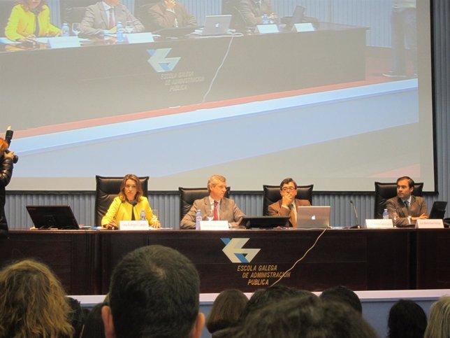 Inauguración de unas jornadas sobre la reforma local en la EGAP