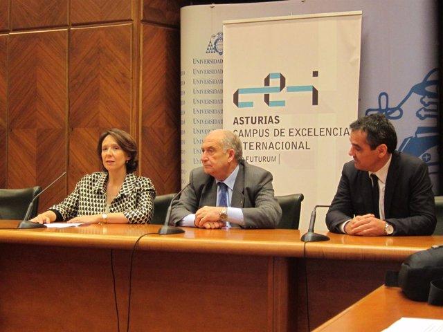 Teresa Sanjurjo, pdta Fundación Príncipe Astu, Vicente Gotor y Vicente Domínguez