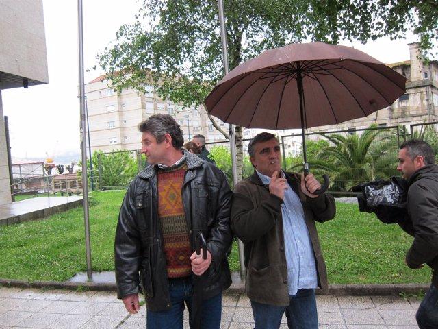 Marineros del Mar de Marín acuden a declarar en el juzgado de Vigo.
