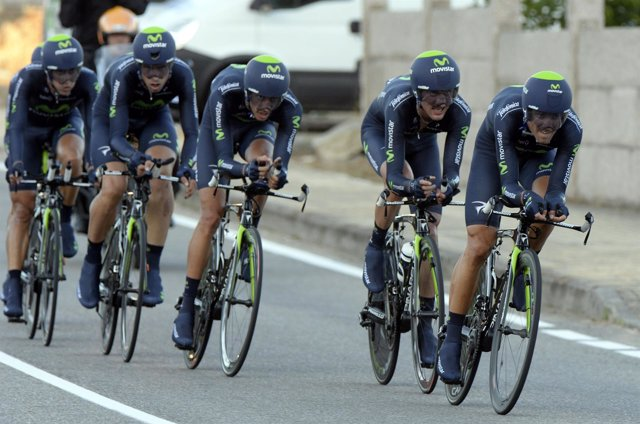 El equipo ciclista Movistar