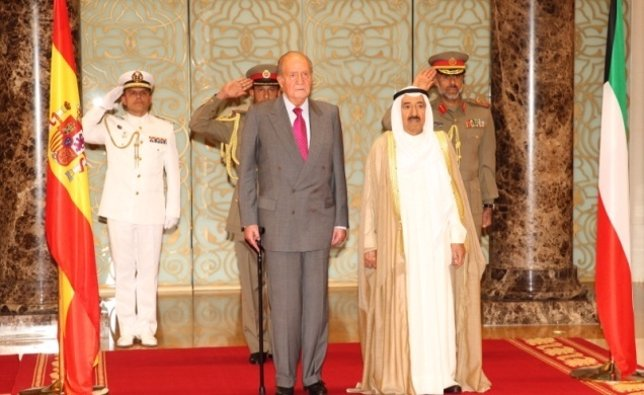 El Rey y el emir de Kuwait