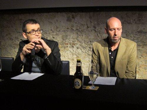 El director del Festival de Sitges, Àngel Sala, y el cienasta Jaume Balagueró