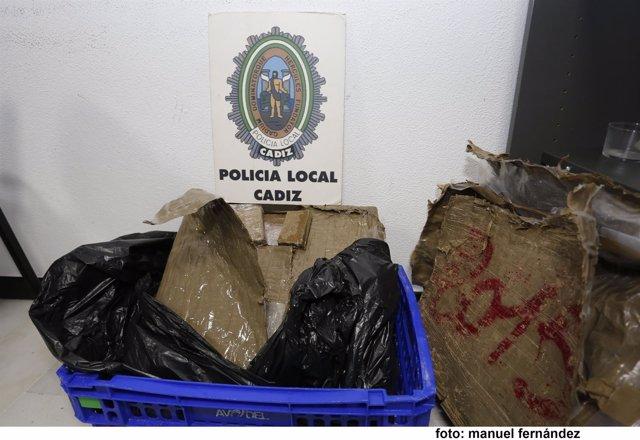 Droga de la que se ha incautado la Policía Local de Cádiz en la actuación