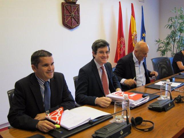 José Iribas, en el Parlamento.
