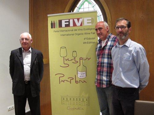 San Agustín, Lezaun y Bidegain en la rueda de prensa de presentación de FIVE
