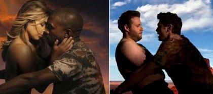 Kanye West quiere a James Franco y a Seth Rogen en su boda parodiando Bound 2