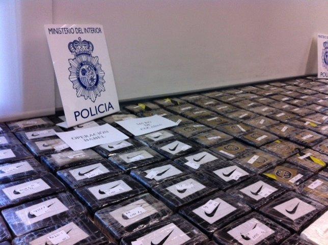 Policía incauta 345 kilos de cocaína en Valencia