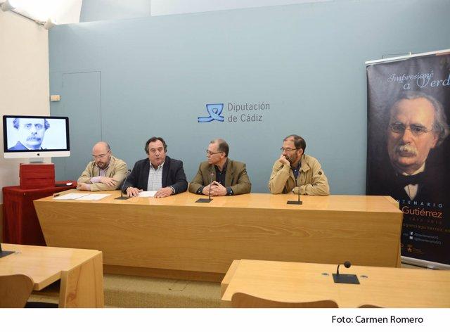 Presentación a los medios del audiovisual sobre García Gutiérrez de Diputación