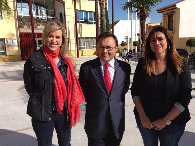 Alba y Heredia en rueda de prensa