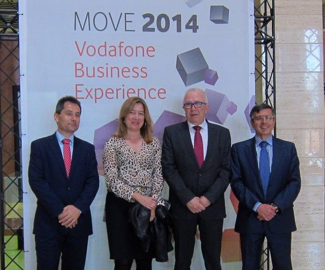 Inauguración de MOVE 2014 de Vodafone en Sevilla.