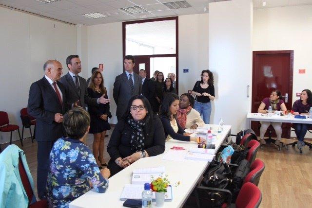 Visita del presidente Alberto Garre al municipio de Yecla