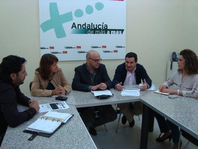 Reunión del PSOE de Jaén con el Colegio de Ingenieros de Caminos