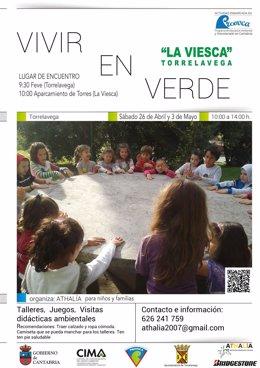Cartel de la actividad en La Viesca