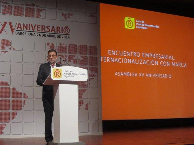 Mariano Rajoy, en el Foro de Marca Renombradas