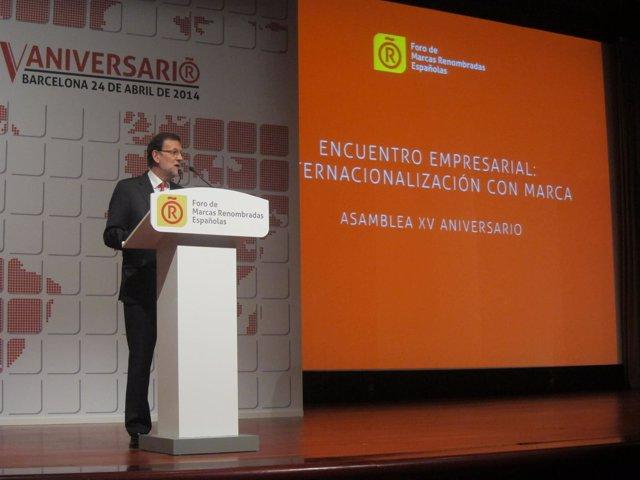 Mariano Rajoy, en el Foro de Marcas Renombradas