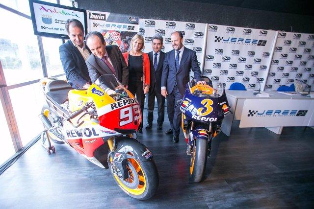 Acto de presentación del GP de España de Motociclismo, que se celebrará en Jerez