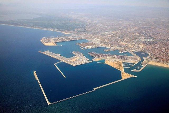 Vista General Del Puerto De Valencia