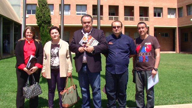 Representantes de Concapa, Gonzalo Anaya y Covapa tras la Mesa de Padres.